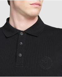 Armani - Black Short Sleeved Piqué Polo Shirt for Men - Lyst