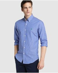 Polo Ralph Lauren | Slim-fit Blue Striped Shirt for Men | Lyst