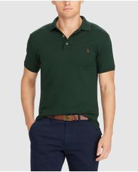 Polo Ralph Lauren - Green Short Sleeved Slim-fit Polo Shirt for Men - Lyst