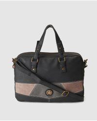 Caminatta - Black Briefcase With Front Logo - Lyst