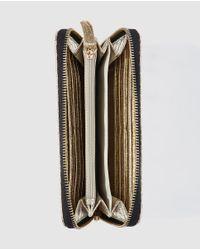 Jo & Mr. Joe - Wilco Large Golden Metallic Wallet With Zip - Lyst