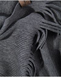 Lottusse - Multicolor Mens Combined Navy Blue And Grey Wool Scarf for Men - Lyst
