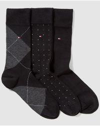 Tommy Hilfiger - Three-pack Of Short Black Socks for Men - Lyst