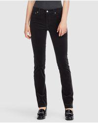 Lauren by Ralph Lauren - Black Straight Trousers - Lyst