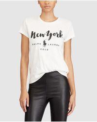 Polo Ralph Lauren | White Printed T-shirt | Lyst