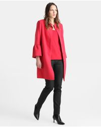 Zendra El Corte Inglés - El Corte Inglés Zendra Pink Coat With Frill - Lyst