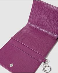Gloria Ortiz - Wo Purple Wallet With Flap Fastening And Pocket On The Outside - Lyst