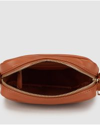 El Corte Inglés - Small Brown Cross-body Bag With Chain Strap - Lyst