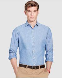 Polo Ralph Lauren - Plain Blue Shirt for Men - Lyst