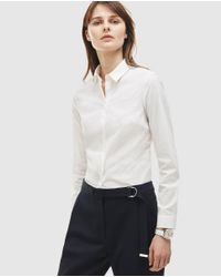 Lacoste - White Long Sleeve Shirt - Lyst