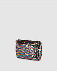 El Corte Inglés - Multicolor Wo Crossbody Bag With Reversible Gold And Multicoloured Sequins - Lyst