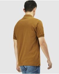 Lacoste - Brown Short Sleeved Polo Shirt for Men - Lyst