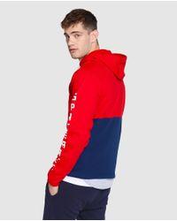 GREEN COAST - Red Hooded Sweatshirt for Men - Lyst
