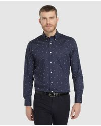 Lauren by Ralph Lauren Regular-fit Blue Printed Shirt for men