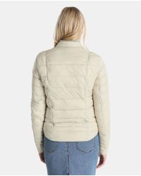 Vero Moda - Natural Short Lightweight Quilted Coat - Lyst