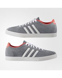 Adidas Neo - Gray Courtset Casual Trainers for Men - Lyst