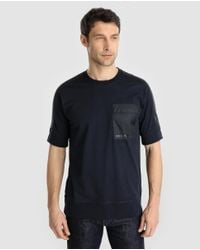 Armani Exchange - Blue Short Sleeved T-shirt for Men - Lyst