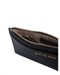 MICHAEL Michael Kors - Blue Slim Leather Wallet - Lyst