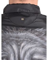 Valentino - Black Wolf Print K-way In Technical Fabric for Men - Lyst