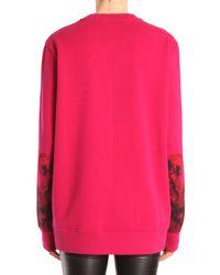 Givenchy - Pink Felpa Girocollo In Cotone Con Stampa Madonna - Lyst