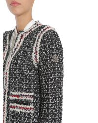 "Moncler Gamme Rouge - Multicolor Cappotto ""ontario"" In Tweed Con Piumino 100 Gr Estraibile - Lyst"