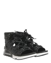 Ash - Black Liv Sequin Sandals - Lyst