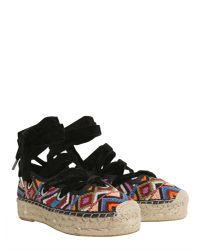 Ash - Black Beaded Embroidered Xenos Espadrilles - Lyst