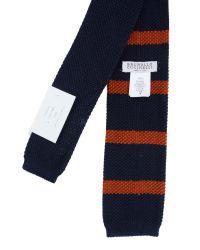 Brunello Cucinelli - Blue Cotton Striped Tie for Men - Lyst