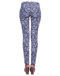 MICHAEL Michael Kors - White Miranda Trousers In Damask Cotton - Lyst