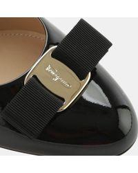 Ferragamo - Black Mirabel Patent Wedge Pump - Lyst