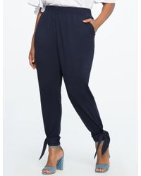 Eloquii - Blue Pull On Easy Ankle Wrap Pant - Lyst