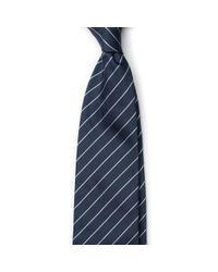 Emmett London - Blue Navy With Mint Stripe Tie for Men - Lyst