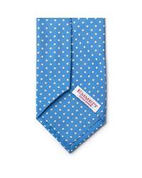 Emmett London - Sky Blue Dot Tie for Men - Lyst