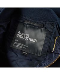 Alpha Industries - Blue Ma-1 Vf Lw Bomber for Men - Lyst