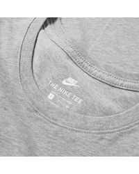Nike - Gray Embroidered Futura Tee for Men - Lyst