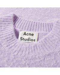 Acne Purple Peele Knit for men