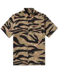 Sophnet - Green Short Sleeve Tiger Camouflage Shirt for Men - Lyst