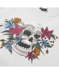 Stussy - White Hippie Skull Crew Sweat for Men - Lyst