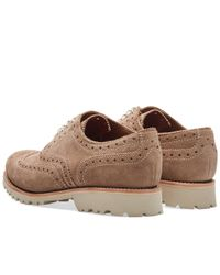 GRENSON - Gray Stanley Xs Brogue for Men - Lyst