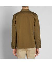 Officine Generale - Green Travis Military Jacket for Men - Lyst