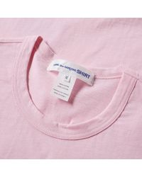 Comme des Garçons - Pink Comme Des Garcons Shirt Cut & Sew Polka Dot Tee for Men - Lyst