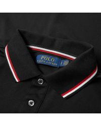 Polo Ralph Lauren - Black Long Sleeve Rwb Tipped Polo for Men - Lyst