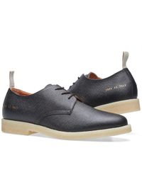 Common Projects - Black Cadet Derby Stamped Grain for Men - Lyst