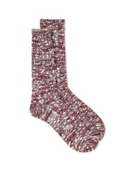 Anonymous Ism | Red Slub Crew Socks for Men | Lyst
