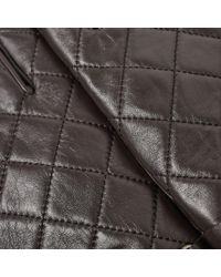 Barbour - Brown Quilted Leather Gloves for Men - Lyst