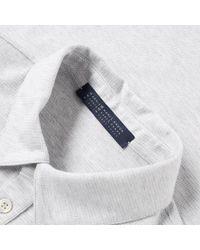Harris Wharf London - Gray Classic Polo for Men - Lyst