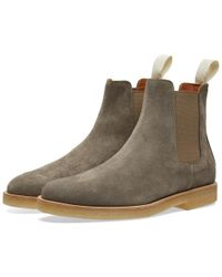 Common Projects - Gray Chelsea Boot Suede for Men - Lyst