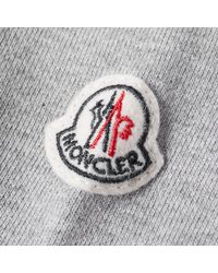 Moncler - Gray Stripe Trim Track Top for Men - Lyst