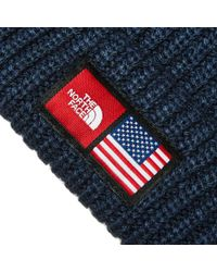 The North Face - Blue Ic Label Beanie - Lyst