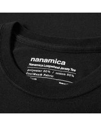 Nanamica - Black Loopwheel Coolmax Graphic Tee for Men - Lyst